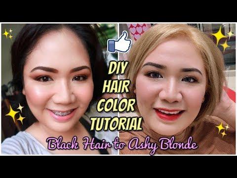 Black Hair to Ashy Blonde DIY Hair Color Tutorial - MichelleFamilyDiary