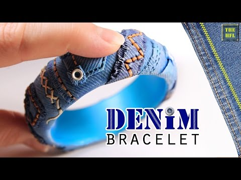 bracciale denim in fimo