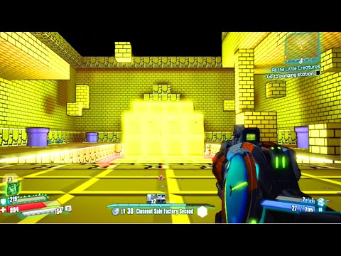 Borderlands The Pre-Sequel - Super Mario Bros Easter Egg (Secret Level)