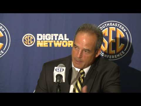 0 2012 SEC Media Days   Coach Pinkel Of Missouri Talks To The Media