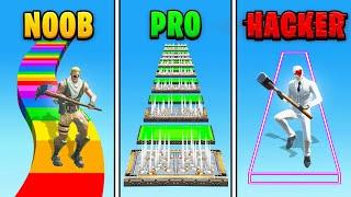 Fortnite NOOB vs PRO vs *HACKER*