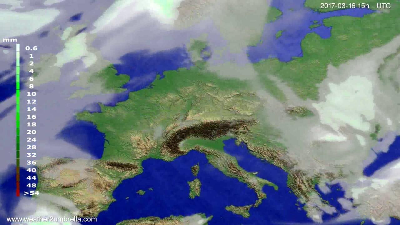 Precipitation forecast Europe 2017-03-14