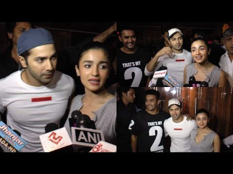 Varun & Alia Bhatt Visit Cinemaghar For Badrinath Ki Dulhamiya Reaction