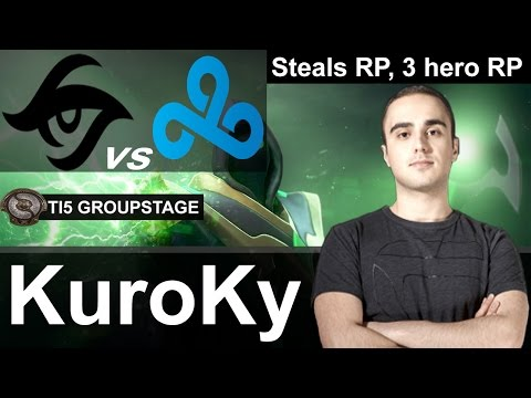 Secret KuroKy plays Rubick [Signature Hero, 3 Hero RP vs Cloud 9] Dota 2 [TI5 Group]