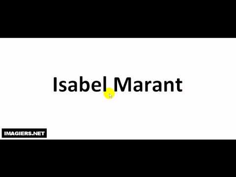 Pronounce French with Vincent # Isabel Marant