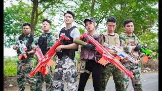 Video LTT Nerf War : Captain SEAL X Warriors Nerf Guns Fight Criminal Group Bandits Weapons Transporting MP3, 3GP, MP4, WEBM, AVI, FLV Juni 2019