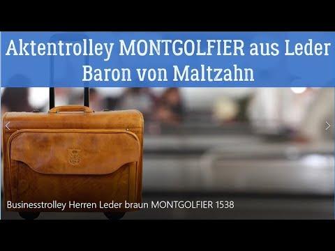 Businesstrolley Herren Leder braun - MONTGOLFIER - Baron von Maltzahn