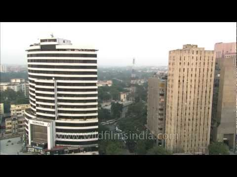 Tall buildings in Connaught Place, Delhi