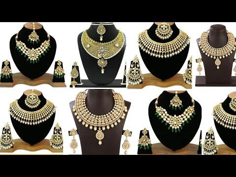 Latest Gold and diamond handmade Necklace design 2018 wedding Sone ka design gold jewellery design