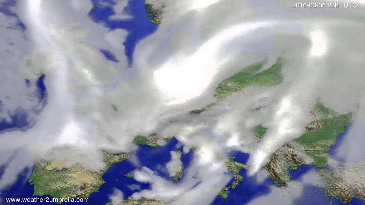 Cloud forecast Europe 2016-03-03