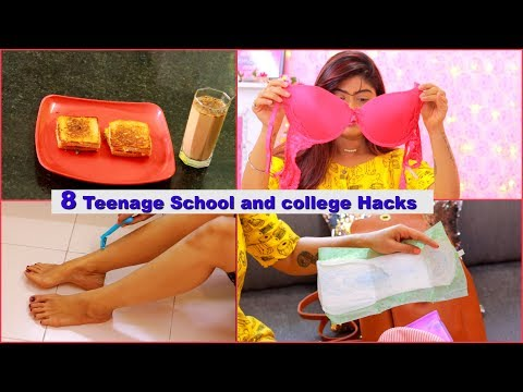8 Life Hacks Every Teenager Should Know ! School And College Hacks