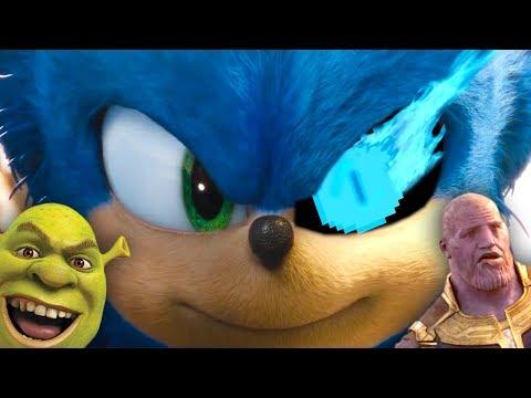New Sonic The Hedgehog Trailer but full of Memes
