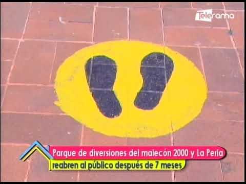 Parque de diversiones del Malecón 2000 y La Perla reabren al público después de 7 meses