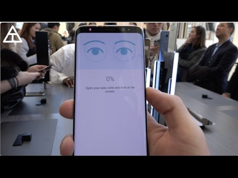 Galaxy S8 Iris Scanner and Fingerprint