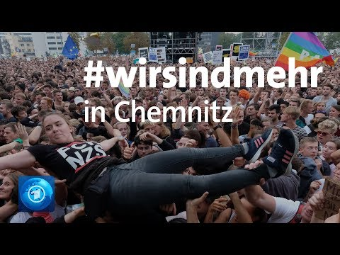 #wirsindmehr-Konzert gegen Fremdenfeindlichkeit in Chemnitz