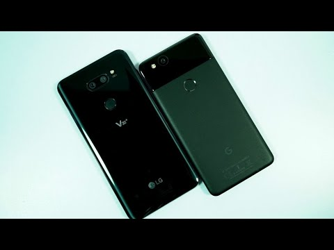 LG V30+ vs pixel 2 Speed Test, Memory Management test and Benchmark Scores