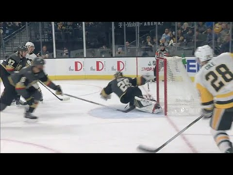 Video: Penguins' Cole threads the needle after pretty passing play