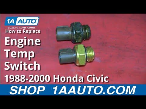 How To Install Replace Engine Computer Coolant Temperature Sensor 1.6L Honda Civic