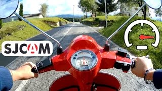 3. Piaggio Vespa PX 125 4 Gears Acceleration and Max Speed Test - Video with SJCAM M20 Action Cam