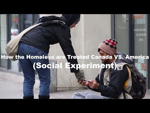 Video How The Homeless are Treated in Canada VS. America (Social Experiment) download in MP3, 3GP, MP4, WEBM, AVI, FLV February 2017