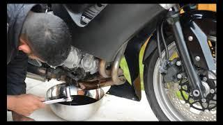 8. Kawasaki ER6F Oil Change