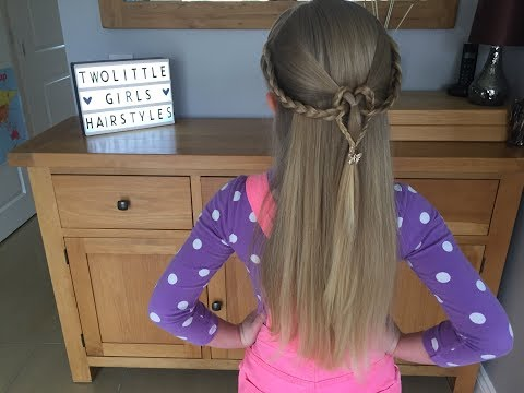 Braid hairstyles - Braided Loop Heart hair tutorial by Two Little Girls Hairstyles