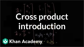 Cross product introduction | Vectors and spaces | Linear Algebra | Khan Academy