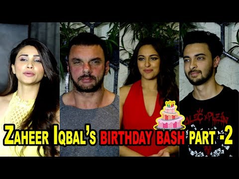 Salman Khan, Sonakshi Sinha and other celebs attend Zaheer Iqbal's birthday bash Part  2