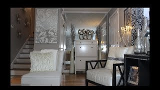 DIY!!!  MIRROR ACCENT WALL FROM GLAM TO RICH & ELEGANT