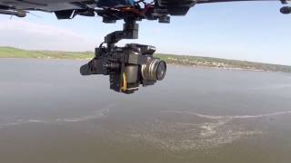 DJI S800 Evo Zenmuze Z15 GH3 with A2 - Onboard Camera Over the Sea - GoPro Hero 3+