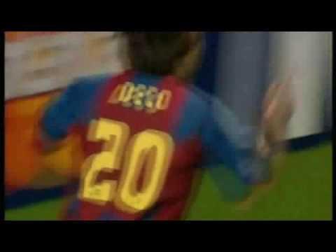 Vistiendo la camiseta del Barça
