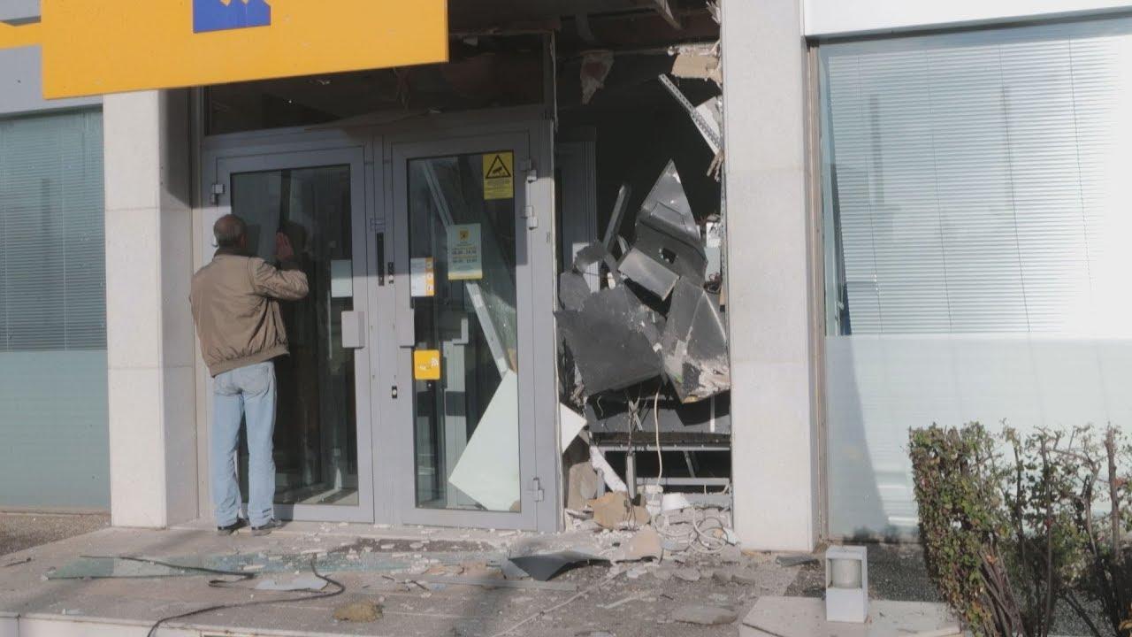 Ανατίναξαν ΑΤΜ σε τράπεζα της Βαρυμπόμπης