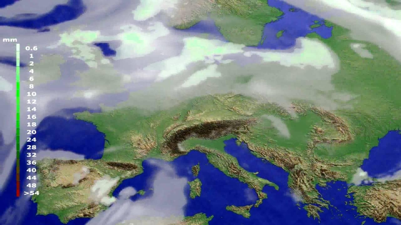 Precipitation forecast Europe 2016-07-06