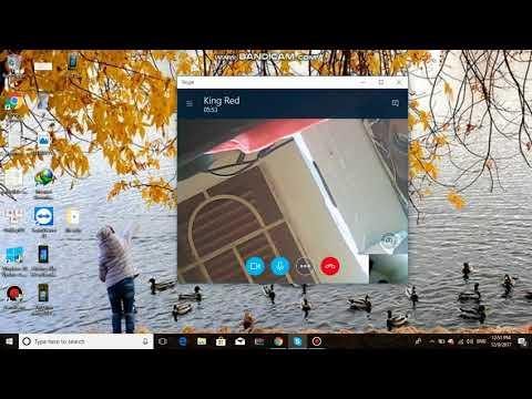 Thử nghiệm sử dụng phần mềm skype trong video call