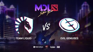 Team Liquid vs Evil Geniuses, MDL Macau 2019, bo3, game 2, [Maelstorm & Jam]