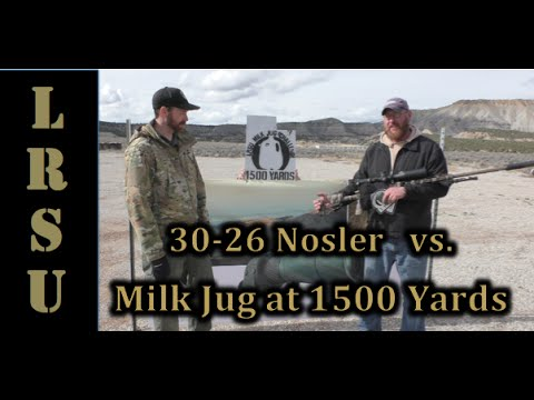 Custom 30 Nosler Shooting a Milk Jug at 1500 Yards - Stuart Mackay