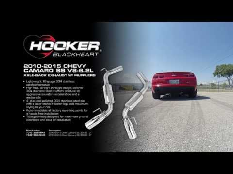 2010-2015 Chevy Camaro SS V8-6.2L - Axle-Back Exhaust System with Mufflers