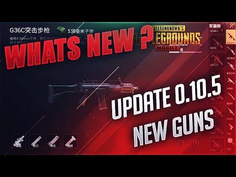 UPDATE 0.10.5 ! WHATS NEW ! NEW GUNS ! PUBG MOBILE