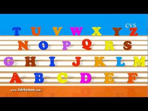ABC Song - Alphabet Songs - Phonics Song  For children in 3D Animation rhymes