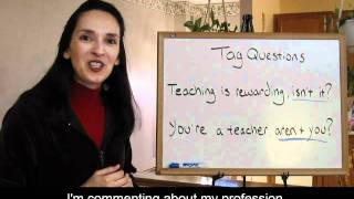 Tag Questions - Lesson 29, Part 1 - English Grammar (with Captions)