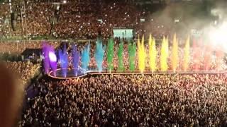 Abertura Show Coldplay São Paulo Alianz Parque dia 07/04/2016 inesquecível. Peço desculpas pelo áudio... mas na hora da...