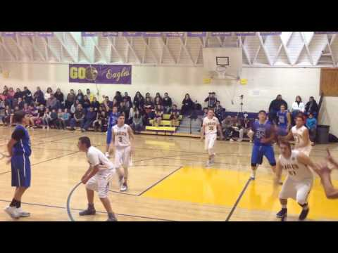 Druw Allen #30 Bishop Union High School vs. Lone Pine Basketball 12/6/16