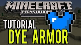Minecraft PS3 Update 1.04 (TU14) - How To Dye Armor (TUTORIAL)