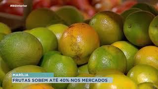 Calor afeta em 40 % preço das frutas