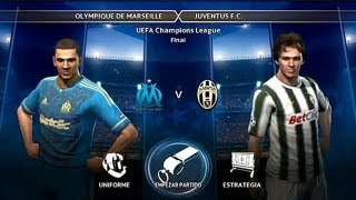 PES 2012 - Gameplay - Liga Master - 117 - JUVENTUS vs OLIMPIQUE DE MARSELLA (Final Champions)
