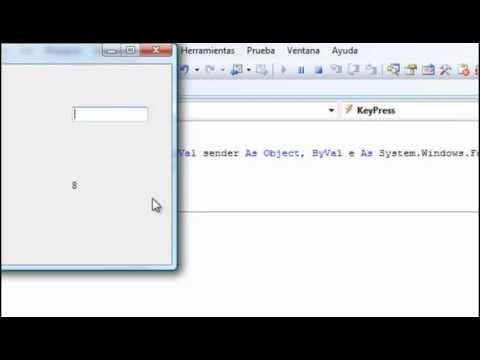 Video 1 de Visual Basic: Validar entradas de texto parte I