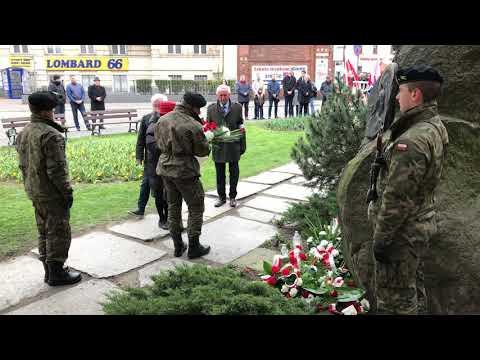 Wideo1: Uroczystości katyńskie w Lesznie