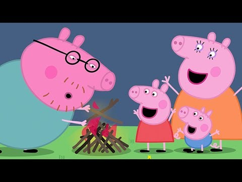 Peppa Pig English Episodes  Campfire Fun Time With Peppa Pig  Peppa Pig Official