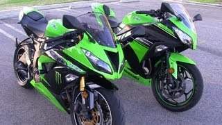 1. 2013 Kawasaki NINJA 636 ZX6R & Ninja 300 Side by Side Physical Size Comparison