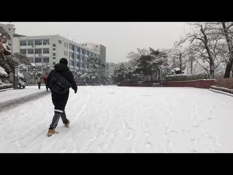 Winter in Hanyang University